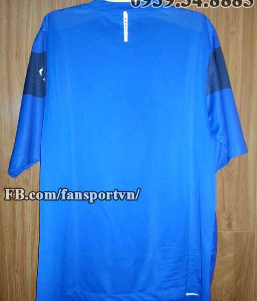 Áo tập Manchester United 2009-2010 training shirt jersey blue