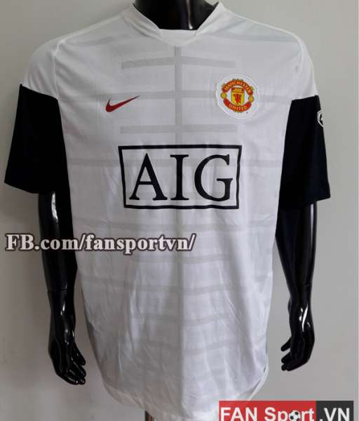 Áo tập Manchester United 2009-2010 training shirt jersey white