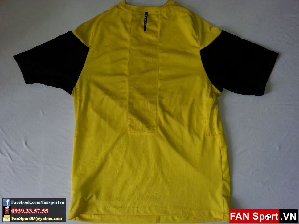 Áo tập Manchester United 2009-2010 training shirt jersey yellow