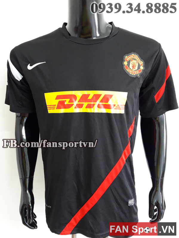 Áo tập Manchester United 2011-2012 training shirt jersey black