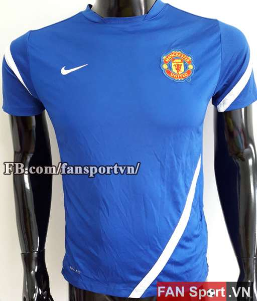 Áo tập Manchester United 2011-2012 training shirt jersey blue