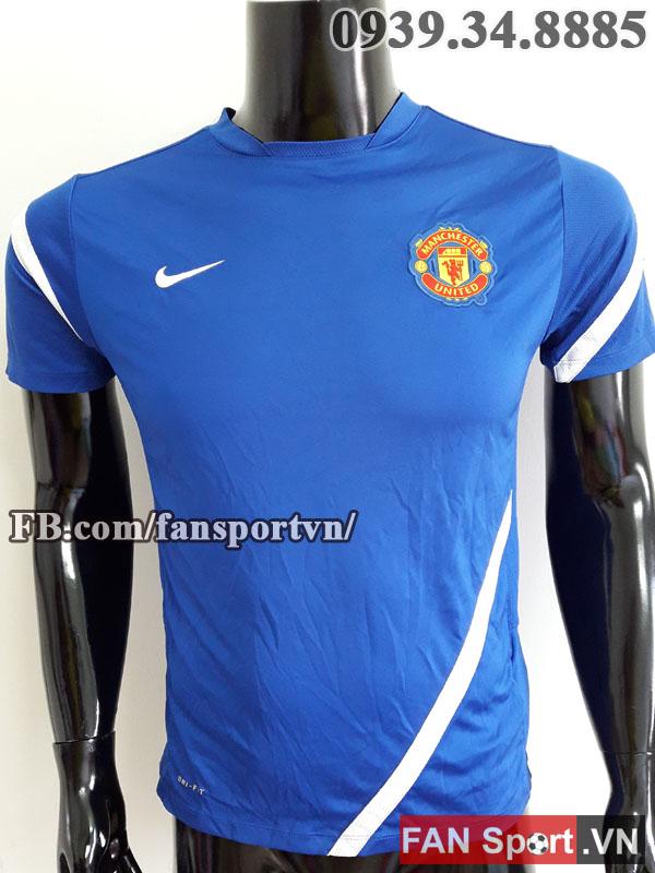 Áo tập Manchester United 2011-2012 training shirt jersey blue