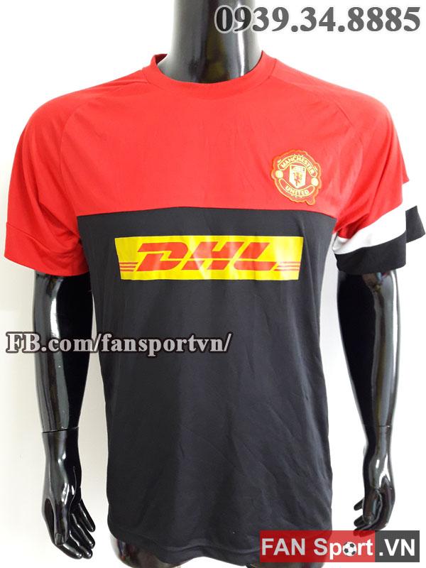 Áo tập Manchester United 2012-2013 training shirt jersey black red