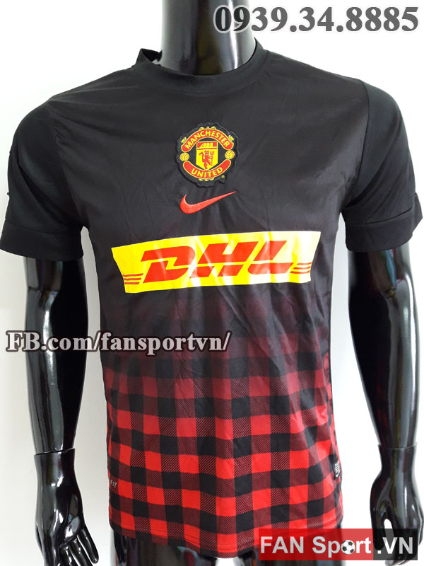 Áo tập Manchester United 2012-2013 training shirt jersey black red