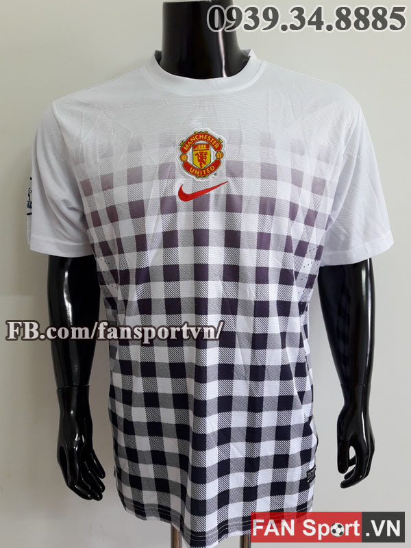 Áo tập Manchester United 2012-2013 training shirt jersey white