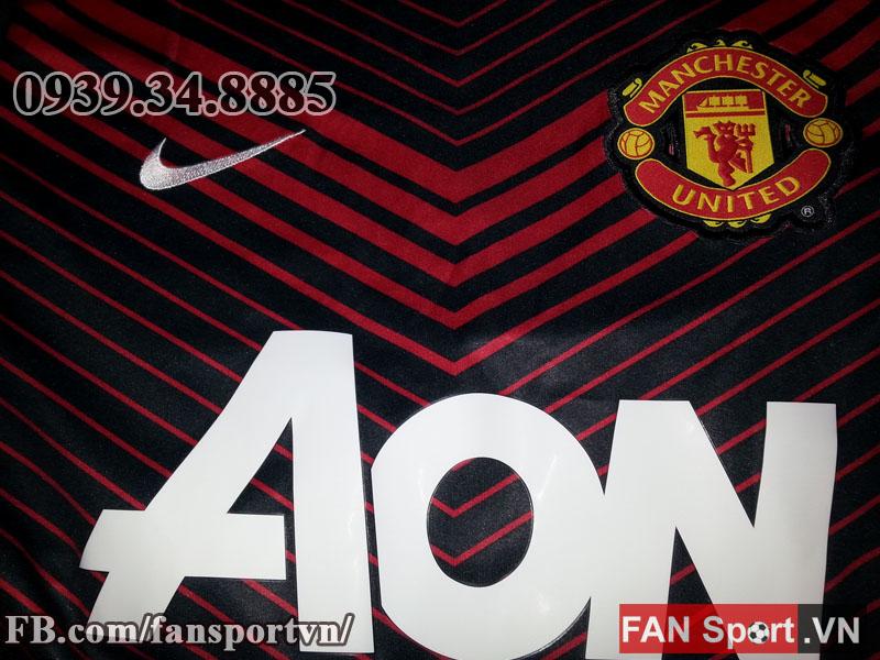 Áo tập Manchester United 2013-2014 training shirt jersey black