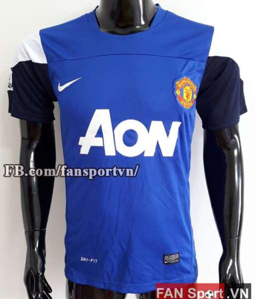 Áo tập Manchester United 2013-2014 training shirt jersey blue