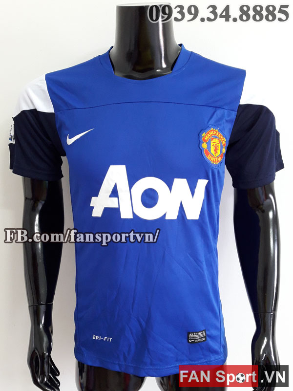 Áo tập Manchester United 2013-2014 training shirt jersey blue