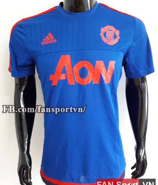 Áo tập Manchester United 2015-2016 training shirt jersey blue