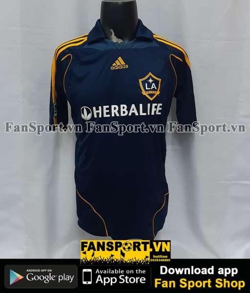 Áo đấu Beckham #23 Galaxy 2007-2008 away shirt jersey blue