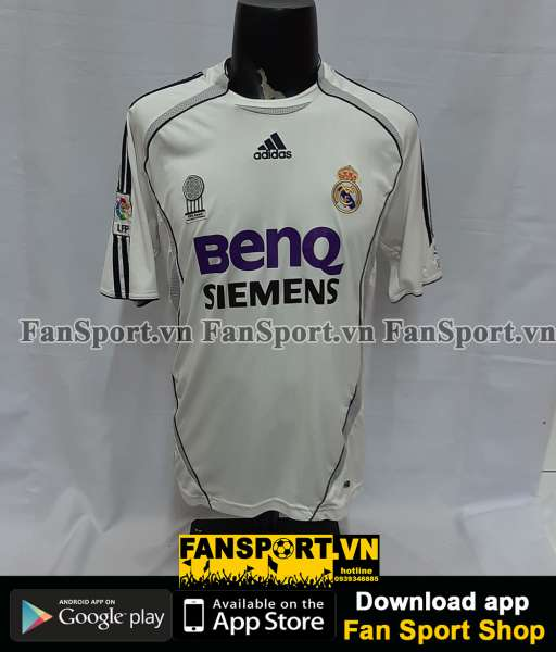 Áo đấu Beckham #23 Real Madrid 2006-2007 home shirt jersey white