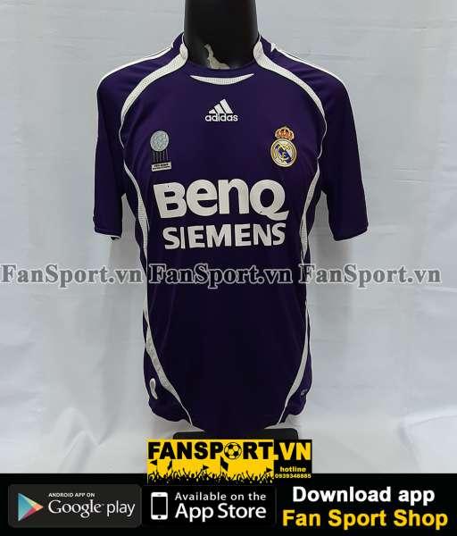 Áo đấu Beckham #23 Real Madrid 2006-2007 third shirt jersey black