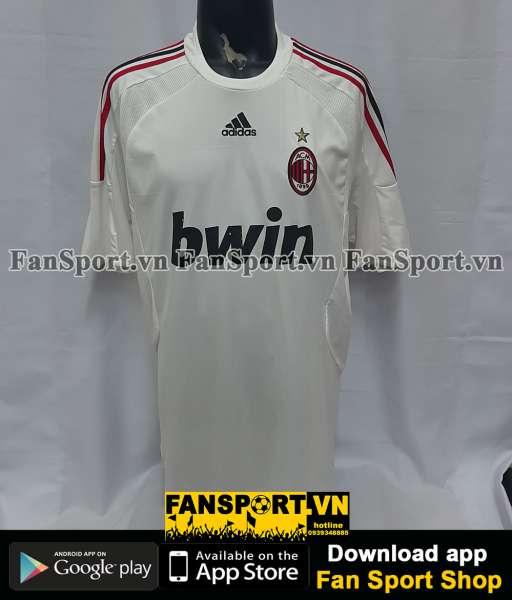 Áo đấu Beckham #32 AC Milan 2008-2009 away shirt jersey white
