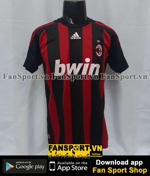 Áo đấu Beckham #32 AC Milan 2008-2009 home shirt jersey red