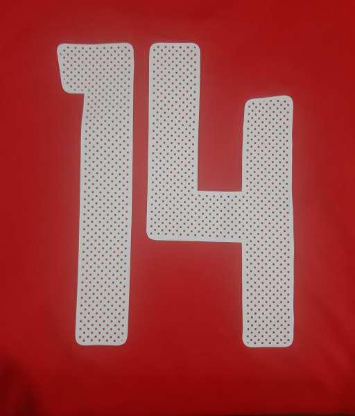 Font Jungsoo 14 South Korea 2010 home shirt nameset