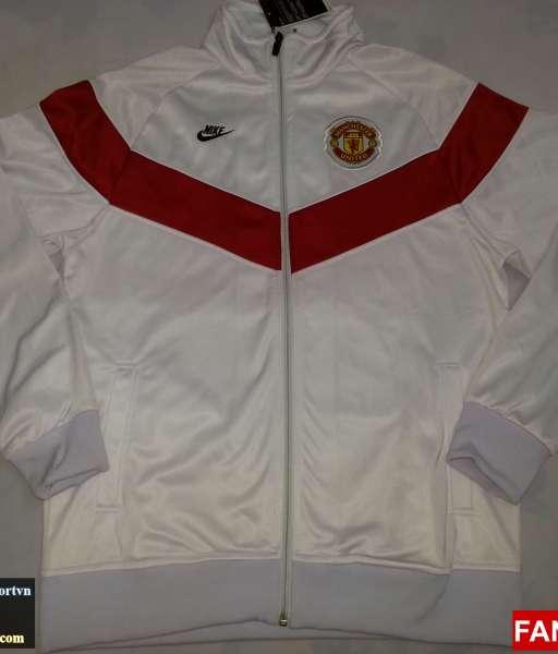 Áo khoác Manchester United 2009-2010 trắng jacket shirt jersey white