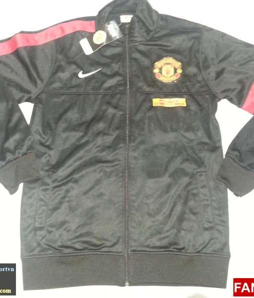 Áo khoác Manchester United 2012-2013 đen jacket shirt jersey black