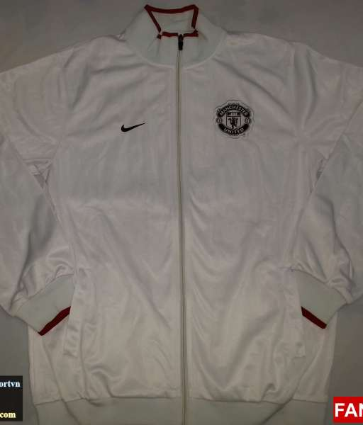 Áo khoác Manchester United 2012 - 2013 trắng jacket shirt jersey white