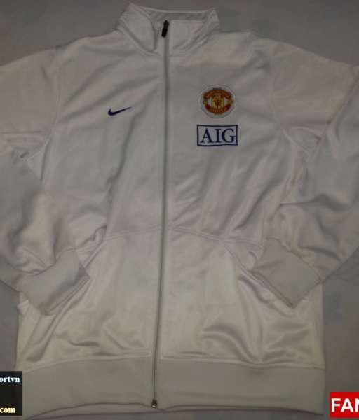Áo khoác Manchester United trắng 2008-2009 - jacket shirt jersey whi