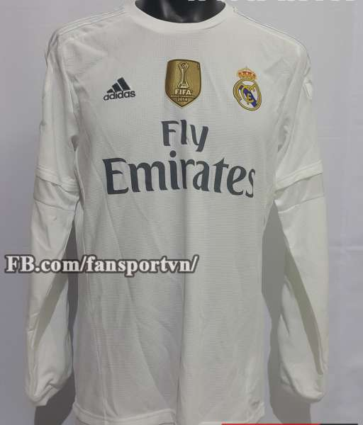 Áo đấu Real Madrid 2015-2016 home shirt jersey white FIFA winner