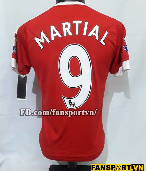 Áo đấu Martial #9 Manchester United 2015-2016 home shirt jersey red
