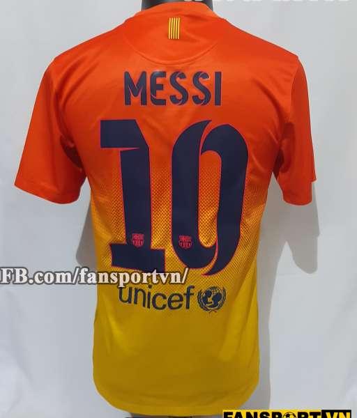 Áo đấu Messi #10 Barcelona 2012-2013 away shirt jersey orange