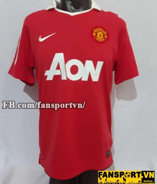 Áo đấu Park Ji Sung #13 Manchester United 2010-2011 home shirt red