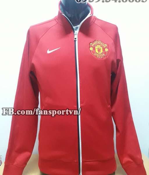 Áo khoác Manchester United 2012-2013 red jacket anthem