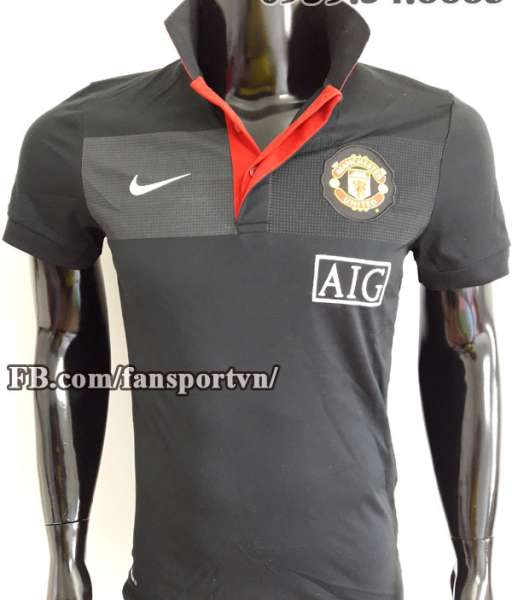 Áo polo Manchester United 2009-2010 đen shirt black