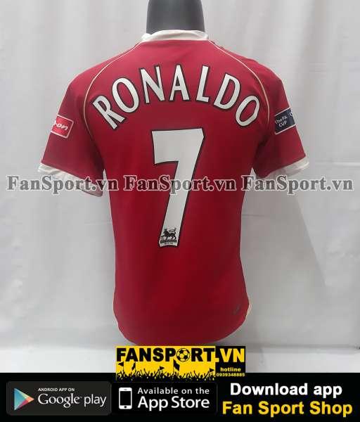 Áo Ronaldo Manchester United FA Cup final 2007 home shirt jersey 2006