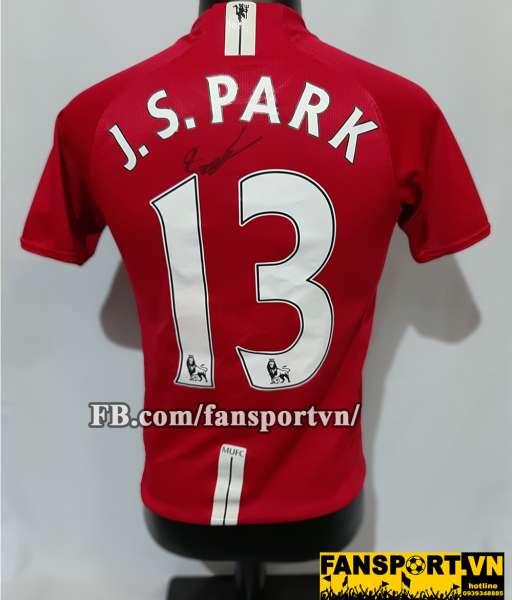 Áo chữ ký Park Ji Sung #13 Manchester United 2007-2008-2009 home shirt