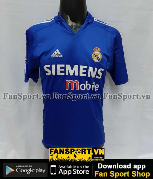 Áo đấu Beckham #23 Real Madrid 2004-2005 third shirt jersey blue