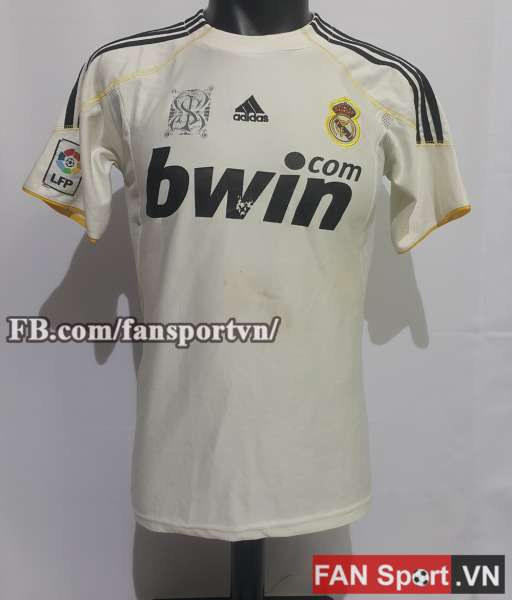 Áo đấu Ronaldo #9 Real Madrid 2009-2010 home shirt jersey white