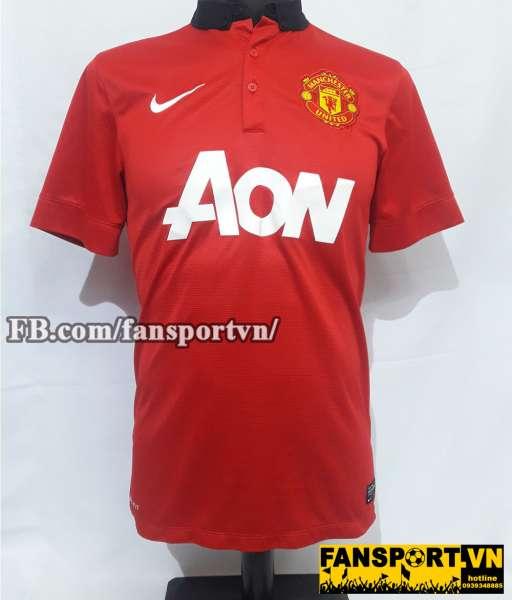 Áo đấu Vidic #15 Manchester United 2013-2014 home shirt jersey red