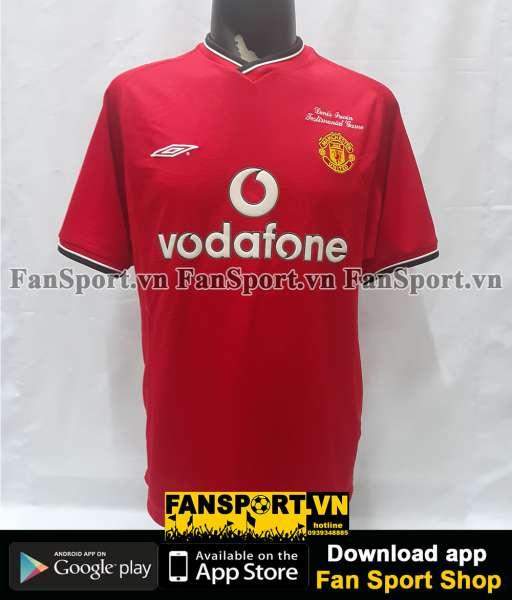 Áo Irwin 3 Testimonial Manchester United 2000 home shirt 2001 2002