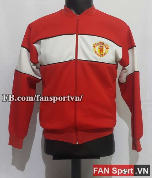 Áo khoác Manchester United 1985 retro red jacket anthem