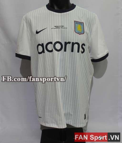 Áo đấu Aston Villa League Cup Final 2010 away shirt jersey white