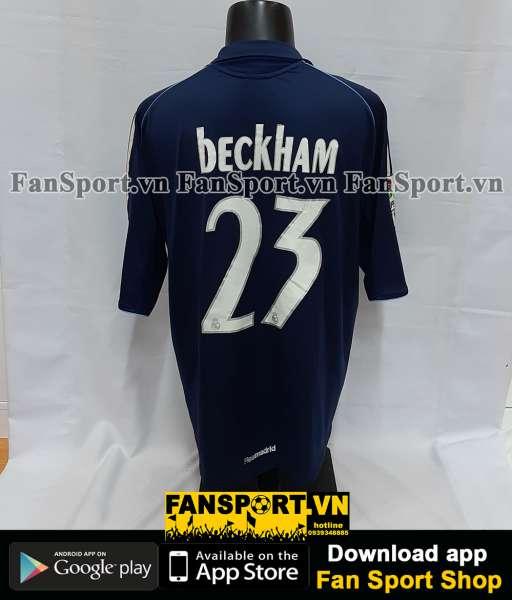 Áo đấu Beckham #23 Real Madrid 2005-2006 away shirt jersey blue