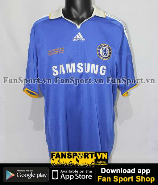 Áo đấu Chelsea Champion League Final 2008 fan version home shirt blue