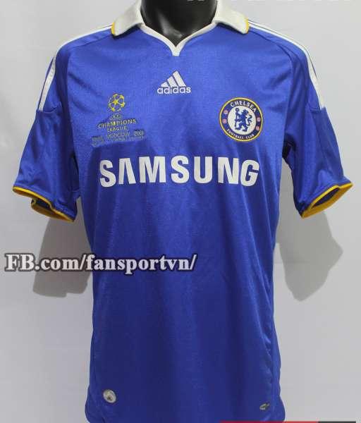 Áo đấu Chelsea Champion League Final 2008 home shirt jersey blue