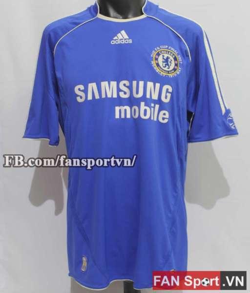 Áo đấu Chelsea FA Cup final 2007 home shirt jersey blue