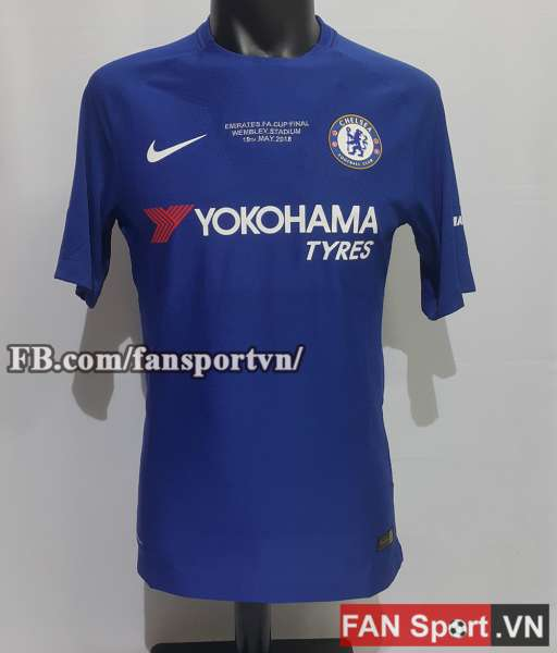 Áo đấu Hazard #10 Chelsea FA Cup final 2018 home shirt jersey blue