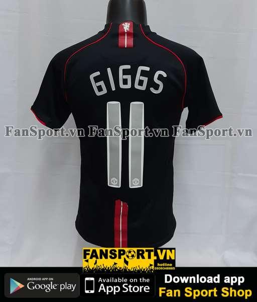 Áo đấu Giggs #11 Manchester United 2007-2008 away shirt jersey black