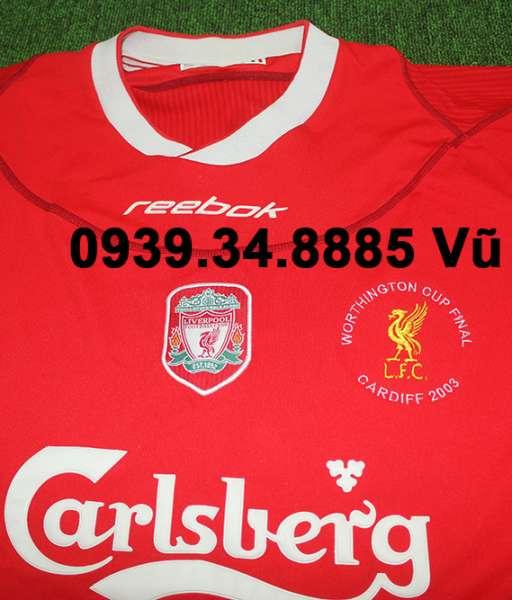 Áo đấu Liverpool Worthington Cup final 2003 home shirt jersey red