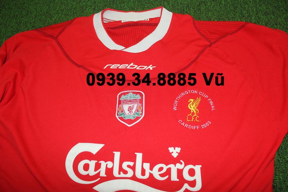 b20b9531114 Áo đấu Liverpool Worthington Cup final 2003 home shirt jersey red ...
