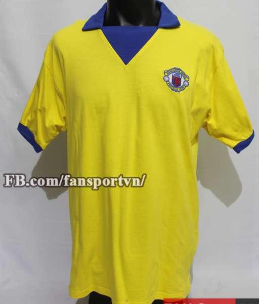 Áo đấu Manchester United 1972-1974 third shirt jersey yellow retro