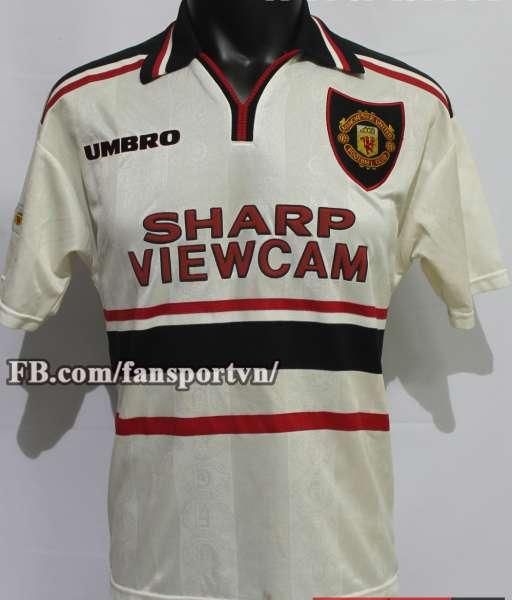 Áo đấu Manchester United 1997-1999 away shirt jersey white
