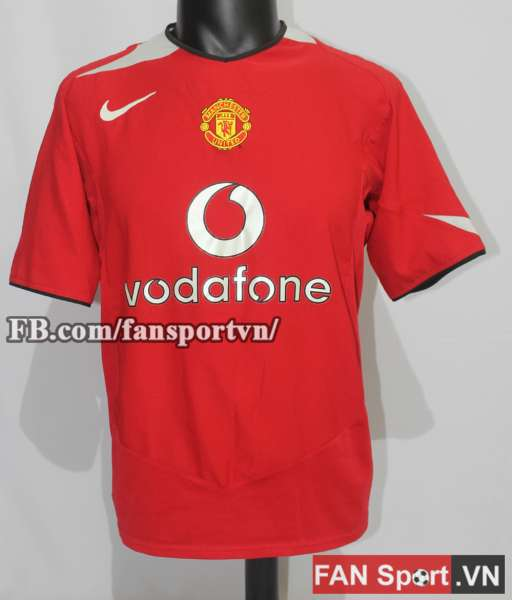 Áo đấu Manchester United 2004-2006 home shirt jersey red
