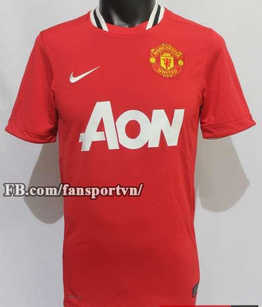 Áo đấu Manchester United 2011-2012 home shirt jersey red