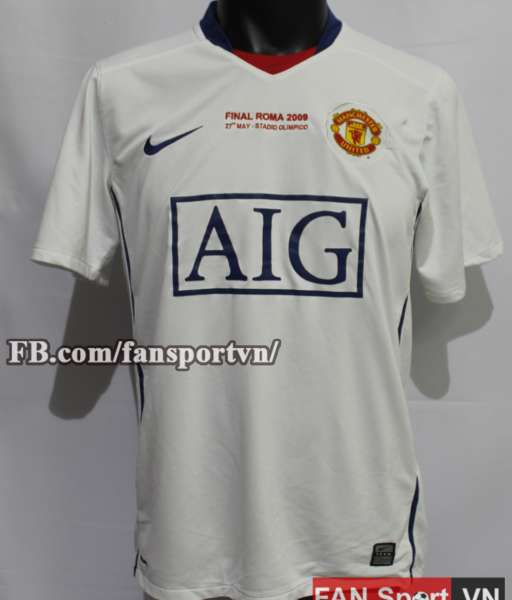 Áo đấu Manchester United Champion League Final 2009 away shirt jersey